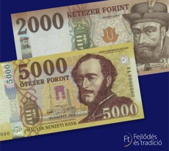 Megújul a kétezres és ötezres bankjegy is