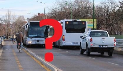 Elég széles lett az új Kaposvári Gyula híd két busz és egy kerékpáros számára?