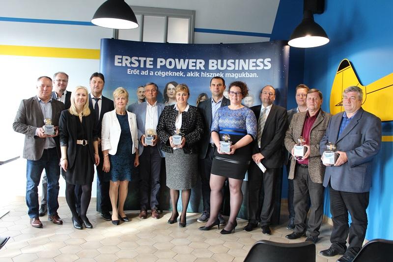 Megyénkből 7 vállalkozás is elismerő díjat kapott az Erste Banktól