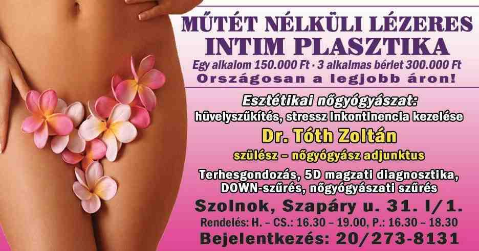 Már Szolnokon is! - Műtét nélküli intim plasztika